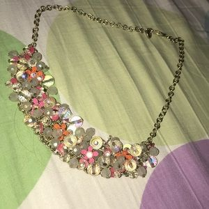 BEAUTIFUL pink flowery necklace